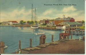 Cape Cod, Mass., Waterfront. Woods Hole