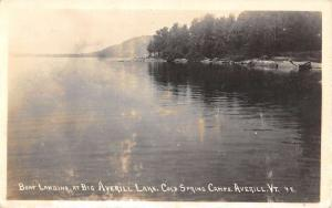 Averill Vermont Cold Spring Camps Real Photo Antique Postcard K78141