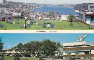 2-views,  Hotel-Motel Au Parasol,  Chicoutimi,  Quebec,  Canada,  PU_1989