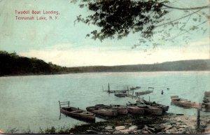 New York Tennanah Lake Twadell Boat Landing 1909