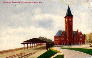 Milwaukee, Wisconsin - The Northwestern Train Station - c1908
