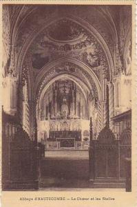 France Abbaye d'Hautecombe Le Choeur et les Stalles