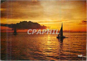 Modern Postcard Island of Martinique Sunset on Fort Bay France