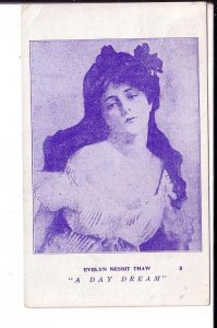 Evelyn Nesbit Thaw, Actress Model Postcard Used Goderich to Clinton Ontario 1907