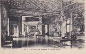 France Pau Interior du Chateau le Grand Salon 1919