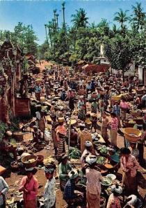 Indonesia Village Market Scene Bali Marche