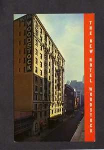NY The New Hotel Woodstock NYC New York City Postcard