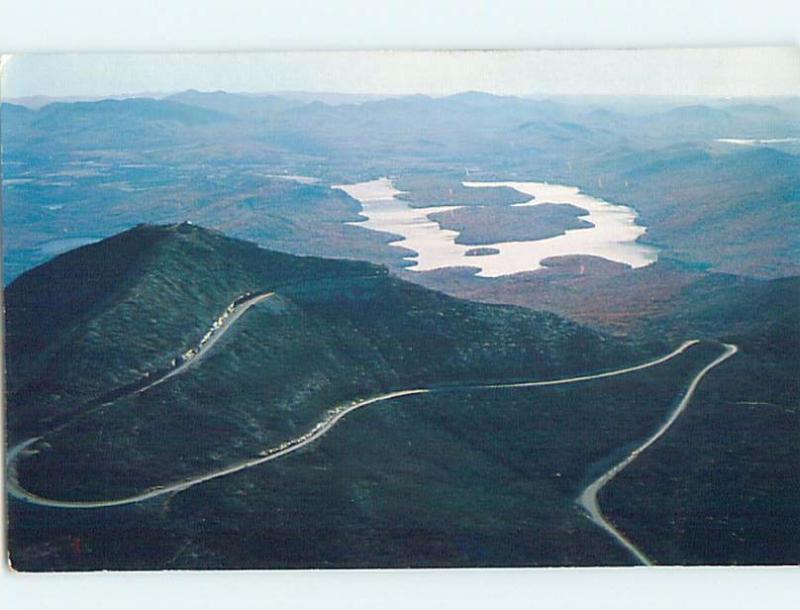 1950's WINDING MOUNTAIN ROAD AERIAL VIEW Adirondacks - Lake Placid NY hp6308