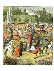 Alice In Wonderland Queen King Of Hearts 1907  Book Postcard