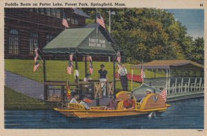 SPRINGFIELD , Mass. , 1930-40s ; Paddle boats on Porter Lake