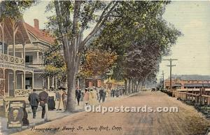 Savin Rock, Connecticut, CT, USA Postcard Promenade at Beach Street 1913