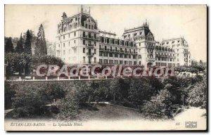 Old Postcard Evian Les Bains The Hotel Splendide