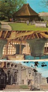 East Bergholt Church Bells Cage 3x Essex Postcard Bundle