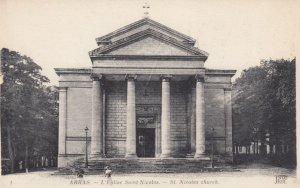 ARRAS, France,1910-1920s, L'Eglise Saint-Nicolas
