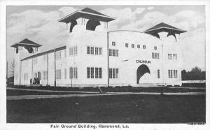 c1915 Fair Grounds Building Hammond Louisiana Auburn postcard 8851