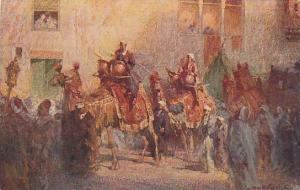 AS, Street Scene, Men On Camels, Corteo Nuziale, Africa, 1910-1920s