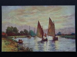Norfolk Broads ARCL The Regatta - Old Postcard by Boots Cash Chemist