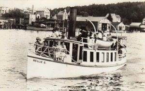 RP: BOOTHBAY HARBOR  , Maine , 1930-50s; Steamer NELLIE G