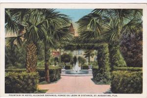 Florida St Augustine Fountain In Hotel Alcazar Grounds Curteich