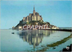 Modern Postcard Mont Saint Michel (Manche) the importance of Marees in the Ba...