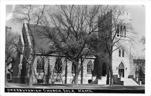Iola Kansas~Presbyterian Church~1950s Real Photo Postcard~RPPC