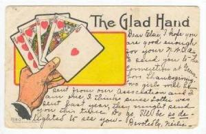 Royal Flush of cards  The Glad Hand , PU 1906