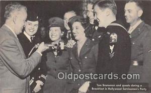 Radio Station Postcard Breakfast in Hollywood Servicemen's Party Tom Breneman
