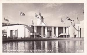 New York World's Fair British Pavilion On Lagoon Of Nations Real Photo