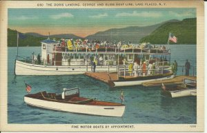 Lake Placid, N.Y., The Doris Landing, George and Bliss Boat Line