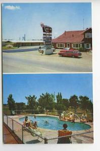 Clovis NM Silver Spur Motel Pool Old Cars Postcard