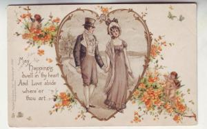 P147 JL 1903 tucks postcard man woman heart happiness dwell