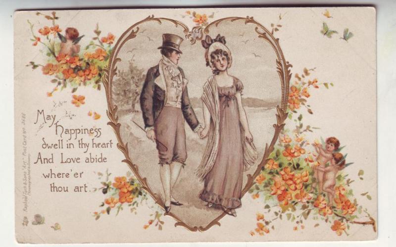P147 JL 1903 tucks postcard man woman heart happiness dwell