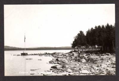 ME Lake Mattanawcook LINCOLN MAINE Real Photo RPPC PC
