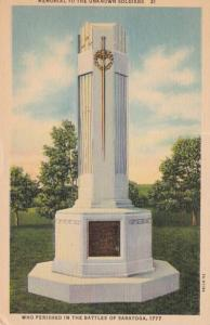 New York Saratoga Memorial To The Unknown Soldiers Curteich