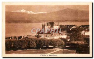 Postcard Old Nyon and Mont Blanc