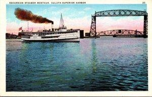 Minnesota Duluth-Superior Harbor Excursion Steamer Montauk