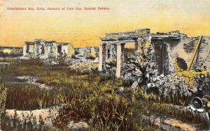 GUANTANAMO BAY, Cuba   REMAINS OF TORO CAY~Spanish Battery  c1910's Postcard