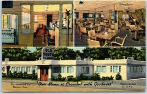 Fort Smith, Arkansas Postcard OLD SOUTH RESTAURANT Roadside Linen c1950s Unused