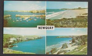 4 View Card Of Newquay, Cornwall, England - Unused - Stained On Back