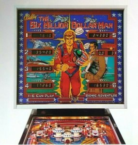 Bally Six Million Dollar Man Pinball FLYER Lee Majors Bionic Steve Austin 1978