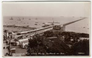 Essex; Southend On Sea, Longest Pier In The World 139925 RP PPC, 1939 PMK