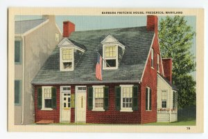 Postcard Barbara Fritchie House Frederick MD Maryland Standard View Card