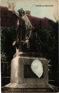 CPA TRÉGUIER-Le Monument a E. Renan (231475)