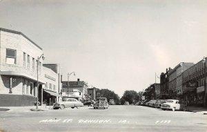 LP71 Denison  Iowa Postcard RPPC Main St