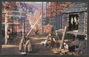 New York, Rochester - Seneca Indian Village Diorama - [NY-520]
