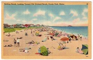 Ocean Park, Maine, Bathing Beach, Looking Toward Old Orchard Beach
