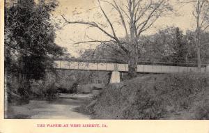 West Liberty Iowa~East Branch Wapsinonoc Creek Bridge~Deck Plate Girder~1907 B&W