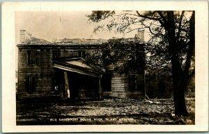 Vintage Rock Island, Illinois RPPC Photo Postcard Old Davenport House Arsenal
