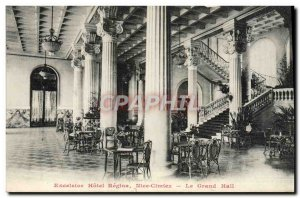 Old Postcard Excelsior Hotel Regina Nice Cimiez The Great Hall