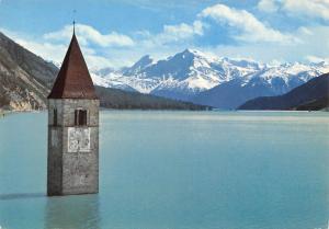 Italy Venosta Lago di Resia Campanile di Curon Reschensee Kirchturm
